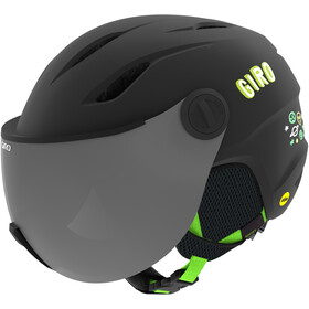 Giro Buzz MIPS Helm Kinderen, matte black/bright green alien
